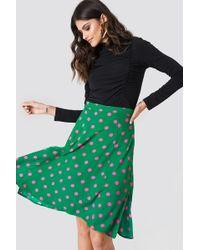 Trendyol - Polka Dot Midi Skirt Green - Lyst