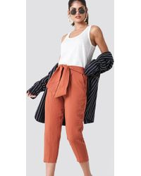 Mango - Bow Belt Trousers - Lyst