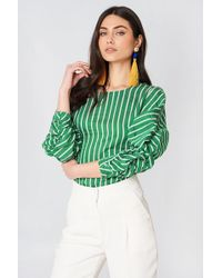 Mango - Draped Blouse Green - Lyst