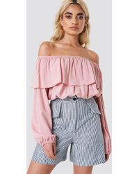 Glamorous - Off Shoulder Ruffle Blouse - Lyst