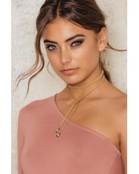 NA-KD - Suede Necklace With Stone Detail - Lyst