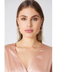 NA-KD - Sparkling Hoop & Chain Earrings - Lyst