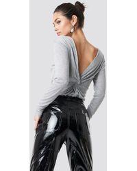 Rut&Circle - Back Knot Knit Top Silver - Lyst