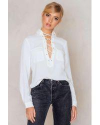 Evaliah Grace - Mimosa Lace Up Shirt - Lyst