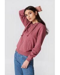 NA-KD - Basic Zipped Hoodie Purple Rose - Lyst