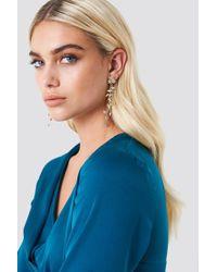 NA-KD - Delicate Hanging Flower Earrings - Lyst
