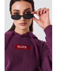 NA-KD - Logo Hoodie Bordeaux - Lyst