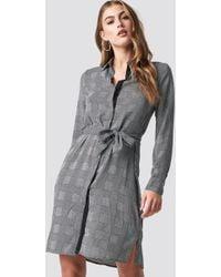 Mango - Country Dress Grey - Lyst