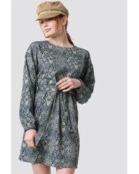 Trendyol - Printed Mini Dress Multicolor - Lyst