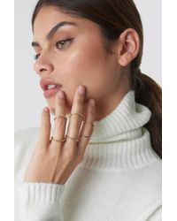 NA-KD - Fine Stacking Rings Gold - Lyst