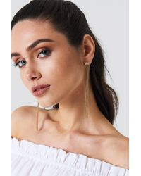 NA-KD - Hanging Chains Earrings - Lyst