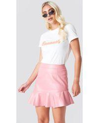 Rut&Circle - Frill Pu Skirt - Lyst