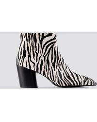 Mango - Dalia Ankle Boots White - Lyst