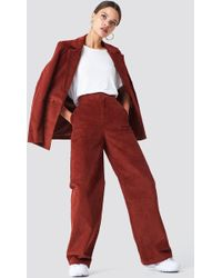 NA-KD - Corduroy Suit Trousers - Lyst