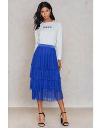 NA-KD - Dotted Mesh Skirt - Lyst