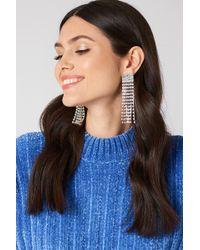 NA-KD - Retro Rhinestone Tassel Earrings - Lyst