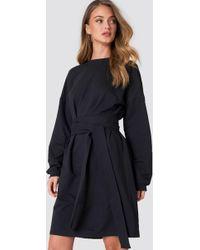 NA-KD - Tied Waist Oversize Dress - Lyst