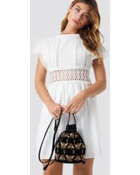 Mango - Kiwano Dress Offwhite - Lyst