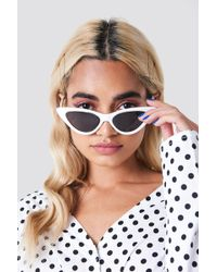 NA-KD - Pointy Cat Eye Sunglasses White - Lyst