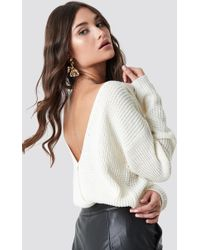 Rut&Circle - Doris Back Wrap Knit White - Lyst