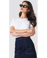 Mango - Bows Sleeve T-shirt White - Lyst