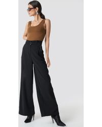 NA-KD - Paperbag Waist Wide Pants - Lyst