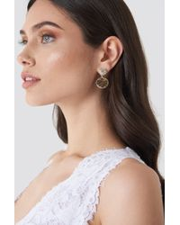 NA-KD - Embellished And Structured Round Earrings - Lyst
