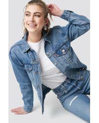 Levi's - Ex Boyfriend Trucker Soft Jacket Med Indigo - Worn In - Lyst