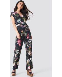 Trendyol - Floral Printed Jumpsuit Multicolour - Lyst