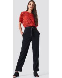 Saint Tropez - Tie Belt Pants Black - Lyst