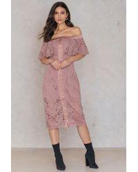 Keepsake - Star Crossed Lace Midi Dress - Lyst