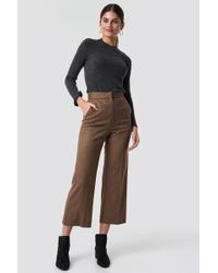 Mango - Eugenio Trousers Brown - Lyst