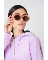 NA-KD - Oval Sunglasses Light Purple - Lyst