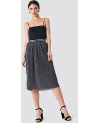 Rut&Circle - Glitter Pleat Skirt Grey - Lyst