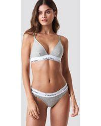 Calvin Klein - Bralette Modern Cotton Grey Heather - Lyst