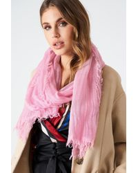 Filippa K - Cold Dyed Wool Scarf Candy - Lyst