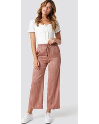 Mango - Guzman Trousers Pink - Lyst