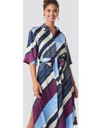 Mango - Amandi Maxi Dress Blue - Lyst