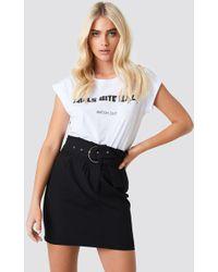 Trendyol - Belted Highwaist Mini Skirt - Lyst