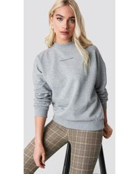 NA-KD - Passionate Sweatshirt Grey Melange - Lyst