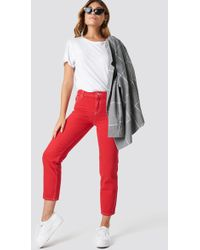 Mango - Claudia Jeans Red - Lyst