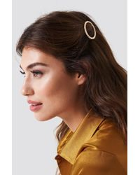 NA-KD - Oval Structured Hairclip - Lyst