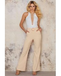 Lavish Alice - Oversized D-ring Belt Tailored Flares - Lyst