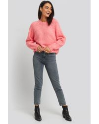 Trendyol - Bel Mom Jeans Grey - Lyst