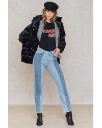 NA-KD - Raw Hem Panel Jeans - Lyst