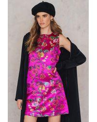 c84594c8918a7 Asos Asos Maternity Kimono Dress in Oriental Bird Print in Black - Lyst