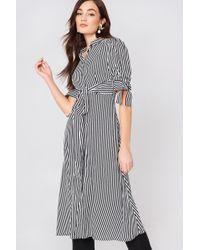 Mango - Striped Shirt Dress - Lyst