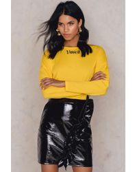 NA-KD - Patent Frill Skirt - Lyst