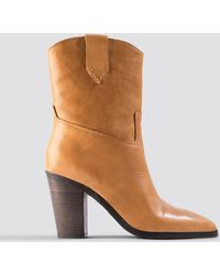 Mango - Texas Ankle Boots Medium Brown - Lyst