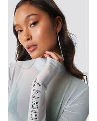 NA-KD - Big Hoop Earrings Silver - Lyst